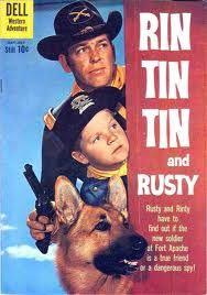 Rintintin et son chien Rusty (1954–1959). Fort Apache, Arizona. Série rediffusée tous les dimanche soir sur Gulli à partir du 8 juin 14.