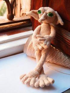 Elf Amigurumi - PATTERN Elfo inspired Dobby: Crochet Pattern. PDF. Digital Download