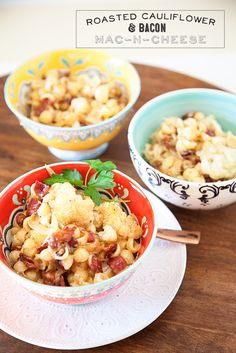 Roasted Cauliflower & Bacon Mac & Cheese Recipe from WhipperBerry