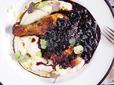 Huhn mit Beerensauce / chicken mit Blaubeeresoße