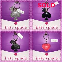 TAKE 40% OFF ♠️ Kate Spade Keychain Bundle NWTs ✨ Kate Spade ♠️ Keychain Bundle NWTs • Includes dust bags • smoke free home • 20% donated to the American Cancer Society • Thanks & Happy Poshing! ✨ kate spade Accessories Key & Card Holders