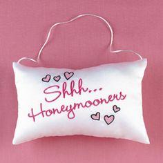 Shhh Honeymooners Door Hanger Pillow