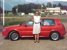 Make & Model: Toyota Corolla GTi, Register: EFF-806, Purchased: 1990, Sold: 1991, Comments: My first company car (Radio City). Päivi with the car on our way to Pori Jazz in July 1991.