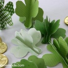 St. Patrick's Day is one of those holidays that is difficult to find decorations for. There are a few things available, but typically not very much. And it's also a holiday that you don't typically decorate a lot for, but I enjoy putting out a few things. So after make the 3D Paper Shamrocks, I …