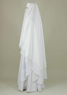 white niqab