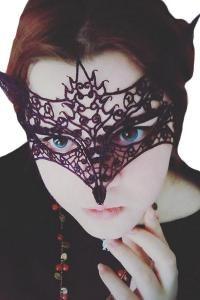 STEAMPUNK STORY Venetian Gothic wolf fox black lace Mask, costume, elegant, masked ball Halloween Jewelry, Halloween Gifts, Halloween Face Makeup, Burlesque, Steampunk, Wolf Mask, Lace Mask, Mask Party, Masquerade Ball