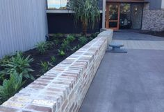 Recycled Bricks   Green MagazineGreen Magazine Retaining Wall Bricks, Brick Paving, Brick Fence, Brick Driveway, Landscape Stairs, Garden Landscape Design, Modern Landscaping, Front Yard Landscaping, Modern Courtyard