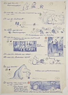 Jansson, drawing of a Moomins storyboard.Tove Jansson, drawing of a Moomins storyboard. Tove Jansson, Illustrations, Children's Book Illustration, Moomin Books, Moomin Valley, Storyboard, Childrens Books, Concept Art, Sketches