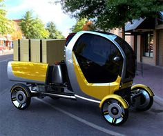 Cute Carrier Cars - Delivery vehicles always tend to be bulky brown (no offense UPS), or white (ditto FedEx) trucks that take up way to much room, no matter the load. ...