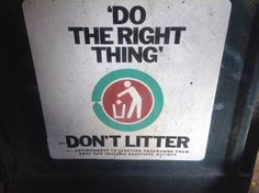 We need to put our rubbish in then bin to keep the earth clean