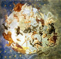 Anonimo   La creazione del cielo a Palazzo Besta -  Emisfero boreale - Teglio 1550 ca.
