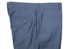 Howard Yount blue fine-twill wool trousers