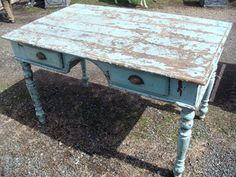 love this old desk, and the color is beautiful