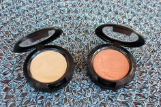 My favorite highlighters - MAC Cream Color Base in Pearl and Hush