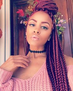 These braids and this hair colour is I've not had box braids in a long time but this look might make me rethink that!