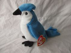 Vintage Beanie Baby 1997 Rocket the Blue Jay by jclairep on Etsy