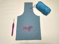 CRAFT Blue and Pink Yarn Bag for Fiber Artists by TheSteadyHand
