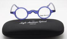 Anglo American Groucho True Round Small Lens Glasses In | Etsy Vision Glasses, Black Round Sunglasses, Glasses Shop, Small Faces, Round Design, Reading Glasses, Prescription Lenses, Purple, Blue