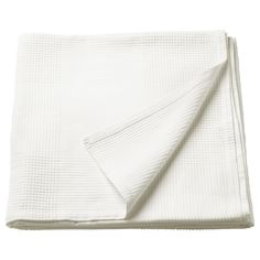 IKEA - INDIRA, Bedspread, white, Fits a Twin bed with a drop of The bedspread fits beds with approx. drop on each side. The bedspread fits beds with approx. drop on each side. Fits a Twin bed. Single Size Bed, Double Bed Size, Large Beds, Ikea Family, Large Blankets, Full Bed, Bed Sizes, Budget, Homes