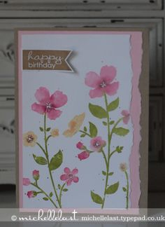 Wildflower Meadow Background stamp from Stampin' Up! - Stampin Up Demonstrator Michelle Last