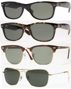 ray-ban glasses rotation = I've had all of these at some point...wish I still had them