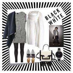 """whiteblack ish"" by wodecai ❤ liked on Polyvore featuring Post-It, Zhenzi, Abercrombie & Fitch, Toga, Kate Spade, Olivia Burton, Ray-Ban, contest, blackandwhite and leggins"