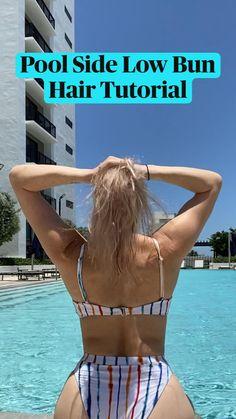 Beach Hairstyles For Long Hair, Pool Hairstyles, Summer Hairstyles, Hair Up Styles, Medium Hair Styles, Hair Videos, Fine Hair, Bellisima, Hair Looks