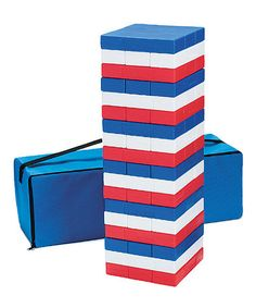 Look what I found on #zulily! Patriotic Super Tumbling Timbers Set #zulilyfinds