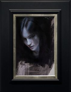 """CASEY BAUGH, """"COLD,"""" OIL ON PANEL, 18 x 12 INCHES"""