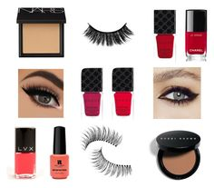 """makeup"" by martyna10146 on Polyvore featuring uroda, Chanel, Gucci, LVX, Red Carpet Manicure, Trish McEvoy, Bobbi Brown Cosmetics i NARS Cosmetics"