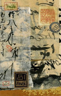 Asian calligraphy collage for John Chen