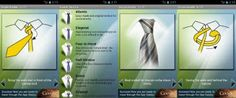 Aprenda a dar nó em sua gravata com este aplicativo super legal