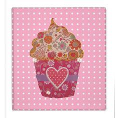 Cupcake and pink and white dots 3 ring binder Recipe Binders, 3 Ring Binders, Custom Binders, Staying Organized, Cupcake, Dots, Organization, Pink, Design