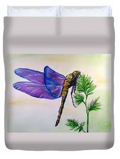 Dragonfly duvet cover available from pixels.  #dragonfly #outlander #homedecor #homedesign #homedecorideas #homedecorating #interiordesign #interiordecor #bedroom #bedroomdecor #shopping