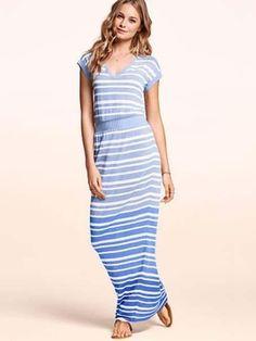 Victoria s secret striped maxi dress