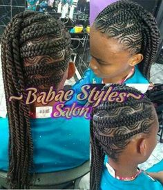 Cute kids braided hairstyle