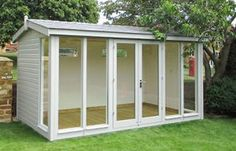 The Burnham Garden Studio combines a traditional style with exciting modern features. We have over 40 years experience in providing bespoke garden buildings, all of which come with free delivery and installation. Studio Shed, Garden Studio, Back Garden Landscape Design, Garden Design, Apex Roof, Pergola With Roof, Shed Design, Garden Buildings, Backyard Retreat
