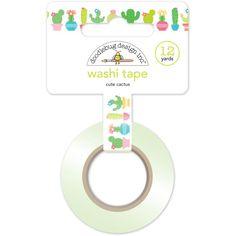 Doodlebug Collection Fun In The Sun Washi Tape Cute Cactus- Design has White…