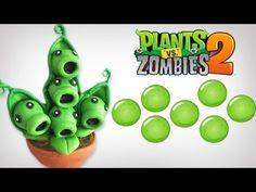 PLANTS VS ZOMBIES 2 VAINA EN ✓ PORCELANA ✓ PLASTILINA ✓ POLYMER CLAY - YouTube