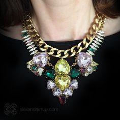 Anton Heunis 'Les Demoiselles' Spectacular Large Chunky Pastel Heart N | Alexandra May Jewellery