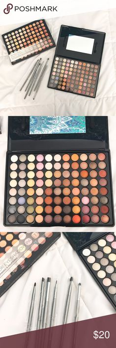 Makeup Bundle Bundle includes a BH Cosmetics 88-Eyeshadow Pallet. Has only been used once for swatching to see if colors are pigmented (and they are). The 6 Brushes included are brand new and never been used. Pallet still comes in its original box with everything included in it. Also includes a makeup brushes leather bag. It's in like-new condition and can hold up to 39 Brushes. ♡ bhcosmetics Makeup Eyeshadow