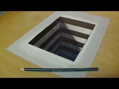 How to Draw 3D Hole for Kids - Easy Anamorphic Illusion - Trick Art on Paper - YouTube