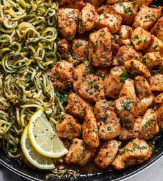 Here we have collected easy keto dinner recipes that are perfect for you to implement the Keto diet into your eating routine! These quick and easy keto dinners recipes Ideas can be made in like… Zucchini Dinner Recipes, Zucchini Noodle Recipes, Chicken Skillet Recipes, Healthy Zucchini, Low Carb Dinner Recipes, Healthy Chicken Recipes, Quick Recipes, Keto Dinner, Lemon Zucchini