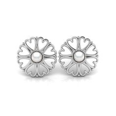 Silver Pearl Studs. R1500 Product Code- WE00082