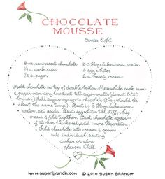 Chocolate Mousse, Susan Branch AGAIN & AGAIN & AGAIN!!! THIS IS THE BEST I'VE EVER HAD!