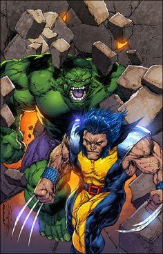 #Hulk #Fan #Art. (Hulk vs Wolverine colors) By: SplashColors. (THE * 5 * STÅR * ÅWARD * OF: * AW YEAH, IT'S MAJOR ÅWESOMENESS!!!™) ÅÅÅ+