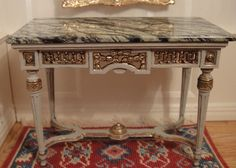 IGMA Artisan David Iriarte's Empire Marble Top Console Table