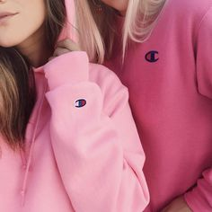 Pink #Champion Sweat