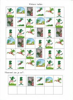 kikkers tellen Letter K, Pre School, Kindergarten, Teaching, Kids, Activities, Young Children, Boys, Kindergartens