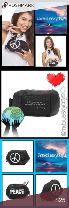 """PLW Cosmetic and Everything bag!! The greatest littke bag!! I use one for my cosmetics, one for my sunglasses, and various items I don't want loose in my purse, or bag!! Great for traveling!! This is not your freebie cosmetic bag you'd get from purchasing cosmetics or from the """"I"""" people!! You'll love this!!! """"for the peace & love you want to see in the world!' PLW Bags Baby Bags"""